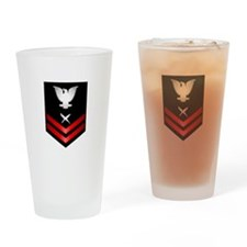 Navy PO2 Cryptologic Technician Drinking Glass