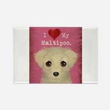 Maltipoo Rectangle Magnet