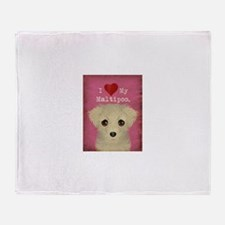 Maltipoo Throw Blanket