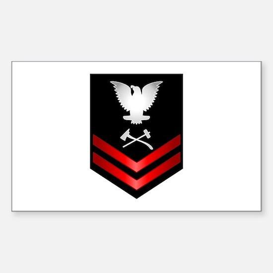 Navy PO2 Damage Controlman Sticker (Rectangle)