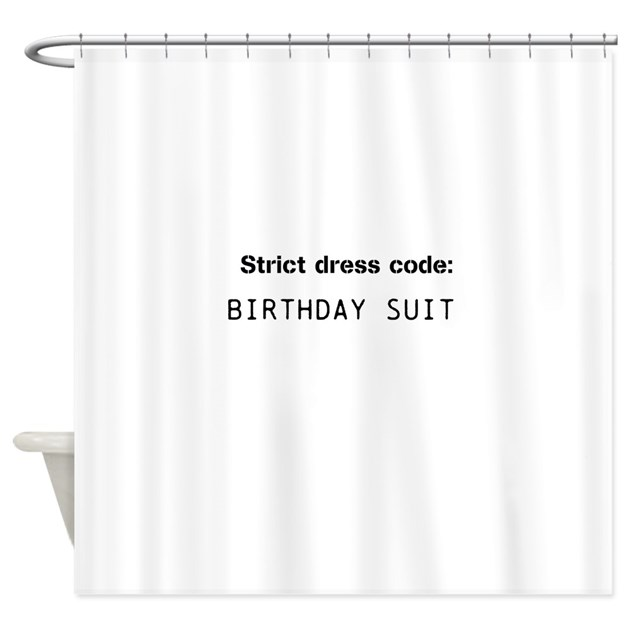 Bathroom dress code funny shower curtain by inspirationzstore for Bathroom dress