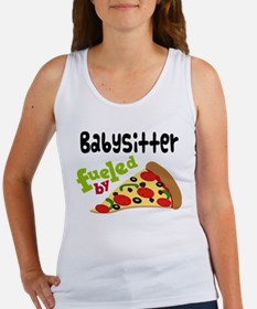 Babysitter Funny Pizza Women's Tank Top