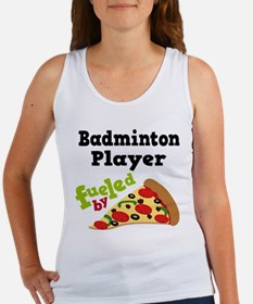 Badminton Player Funny Pizza Women's Tank Top