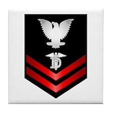 Navy PO2 Dental Technician Tile Coaster