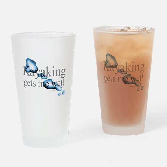 Cute Sea kayak Drinking Glass