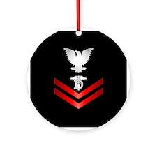 Navy PO2 Dental Technician Ornament (Round)