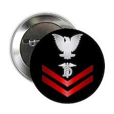 """Navy PO2 Dental Technician 2.25"""" Button"""