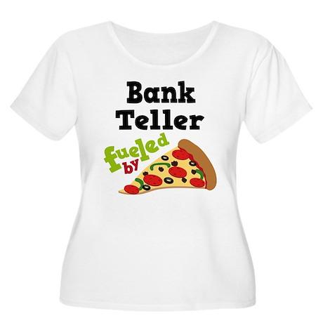 Bank Teller Funny Pizza Women's Plus Size Scoop Ne