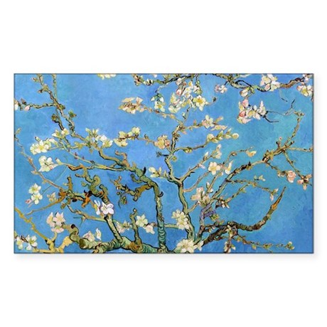 Van Gogh - Almond Blossom Sticker (Rectangle)