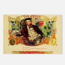 Vintage Cigar Label Art - The Judge Postcards (Pac