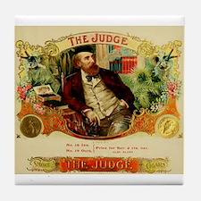 Vintage Cigar Label Art - The Judge Tile Coaster