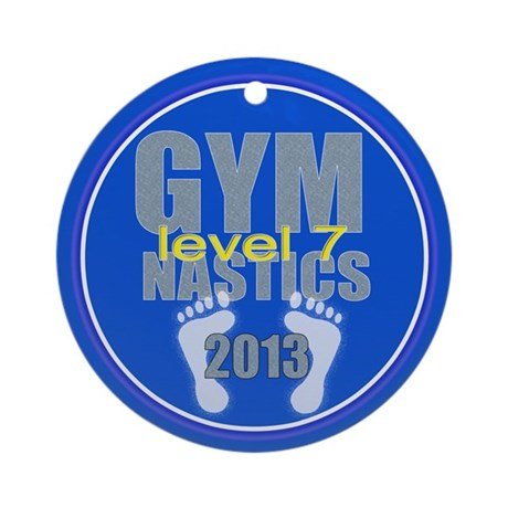 Gymnastics Level 7 Ornament (Round)