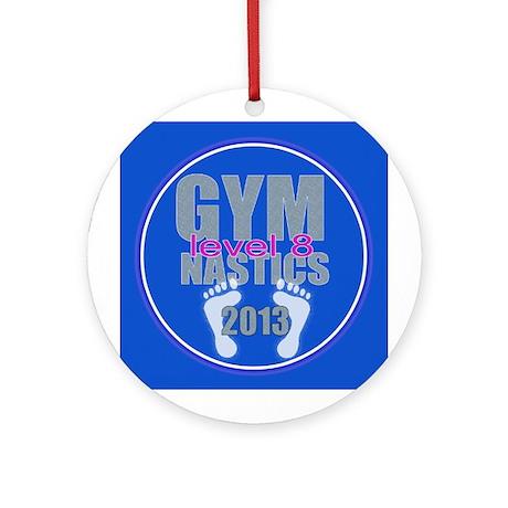 Gymnastics Level 8 Ornament (Round)
