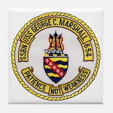 USS GEORGE C. MARSHALL Tile Coaster