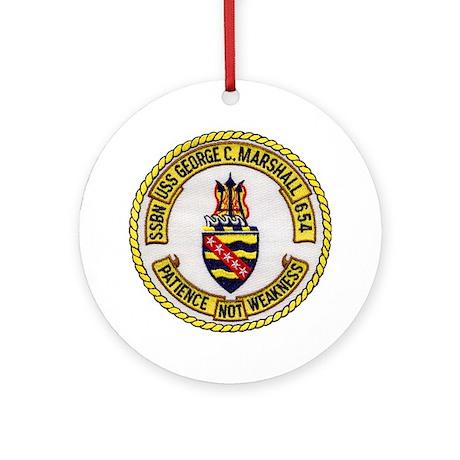 USS GEORGE C. MARSHALL Ornament (Round)