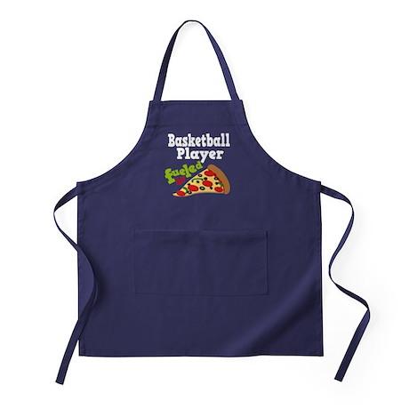 Basketball Player Funny Pizza Apron (dark)