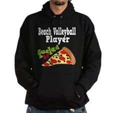 Beach Volleyball Player Pizza Hoodie