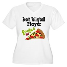 Beach Volleyball Player Pizza T-Shirt