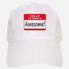 Awesome Name Tag Baseball Baseball Cap