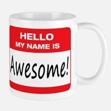Awesome Name Tag Small Small Mug
