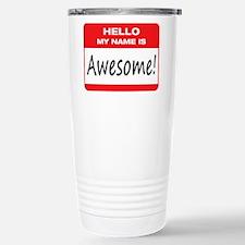 Awesome Name Tag Travel Mug