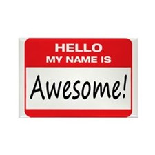 Awesome Name Tag Rectangle Magnet