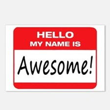Awesome Name Tag Postcards (Package of 8)