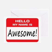 Awesome Name Tag Greeting Card