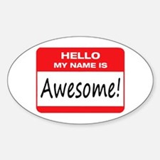 Awesome Name Tag Decal
