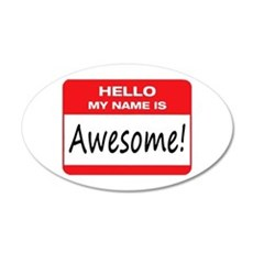 Awesome Name Tag Wall Decal