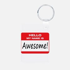 Awesome Name Tag Keychains