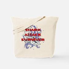 MT - Shark Attack Surviver - FINAL.png Tote Bag