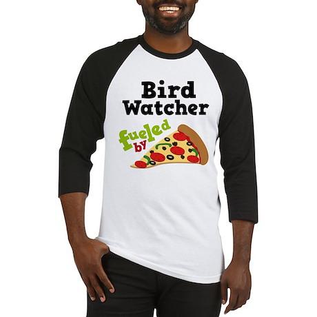 Bird Watcher Funny Pizza Baseball Jersey
