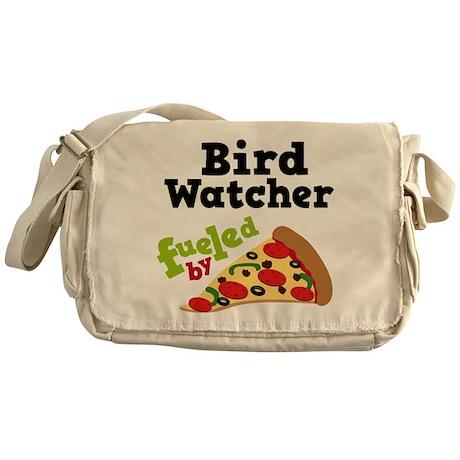 Bird Watcher Funny Pizza Messenger Bag