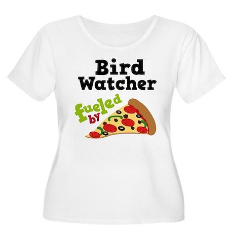 Bird Watcher Funny Pizza Women's Plus Size Scoop N