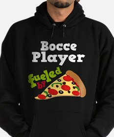 Bocce Player Funny Pizza Hoodie (dark)