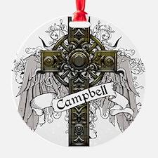 Campbell Tartan Cross Ornament