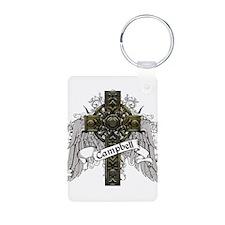 Campbell Tartan Cross Keychains