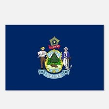 Maine State Flag Postcards (Package of 8)