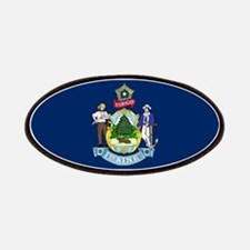 Maine State Flag Patches