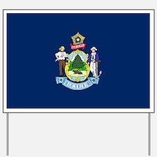 Maine State Flag Yard Sign