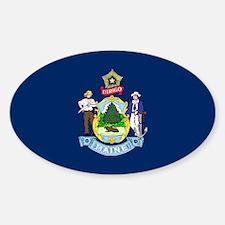 Maine State Flag Sticker (Oval)