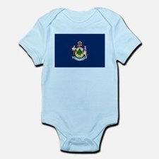 Maine State Flag Infant Bodysuit