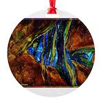 Angel Fish Round Ornament