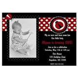 Ladybug 1st birthday Invitations & Announcements