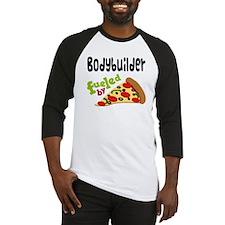Bodybuilder Funny Pizza Baseball Jersey