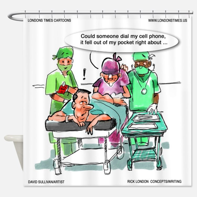 Cellphone In Butt (Gastrointestinal MD Cartoon) Sh
