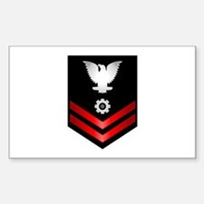 Navy PO2 Engineman Sticker (Rectangle)