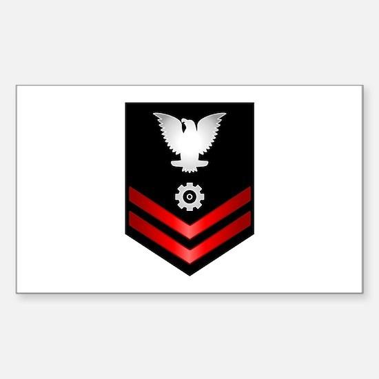 Navy PO2 Engineman Sticker (Rectangle)