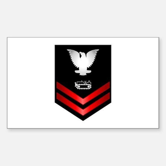 Navy PO2 Equipment Operator Sticker (Rectangle)